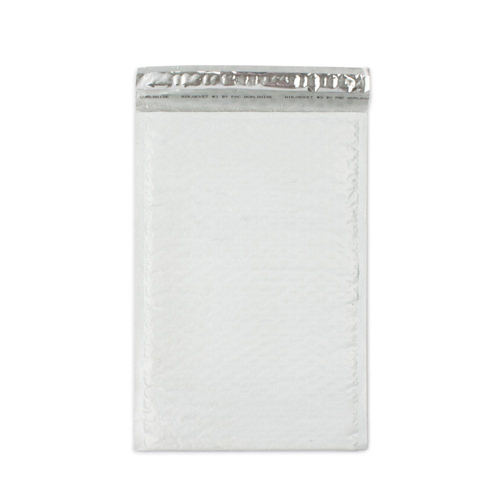 pratt retail specialties 85 in x 1375 in white poly bubble mailers with adhesive
