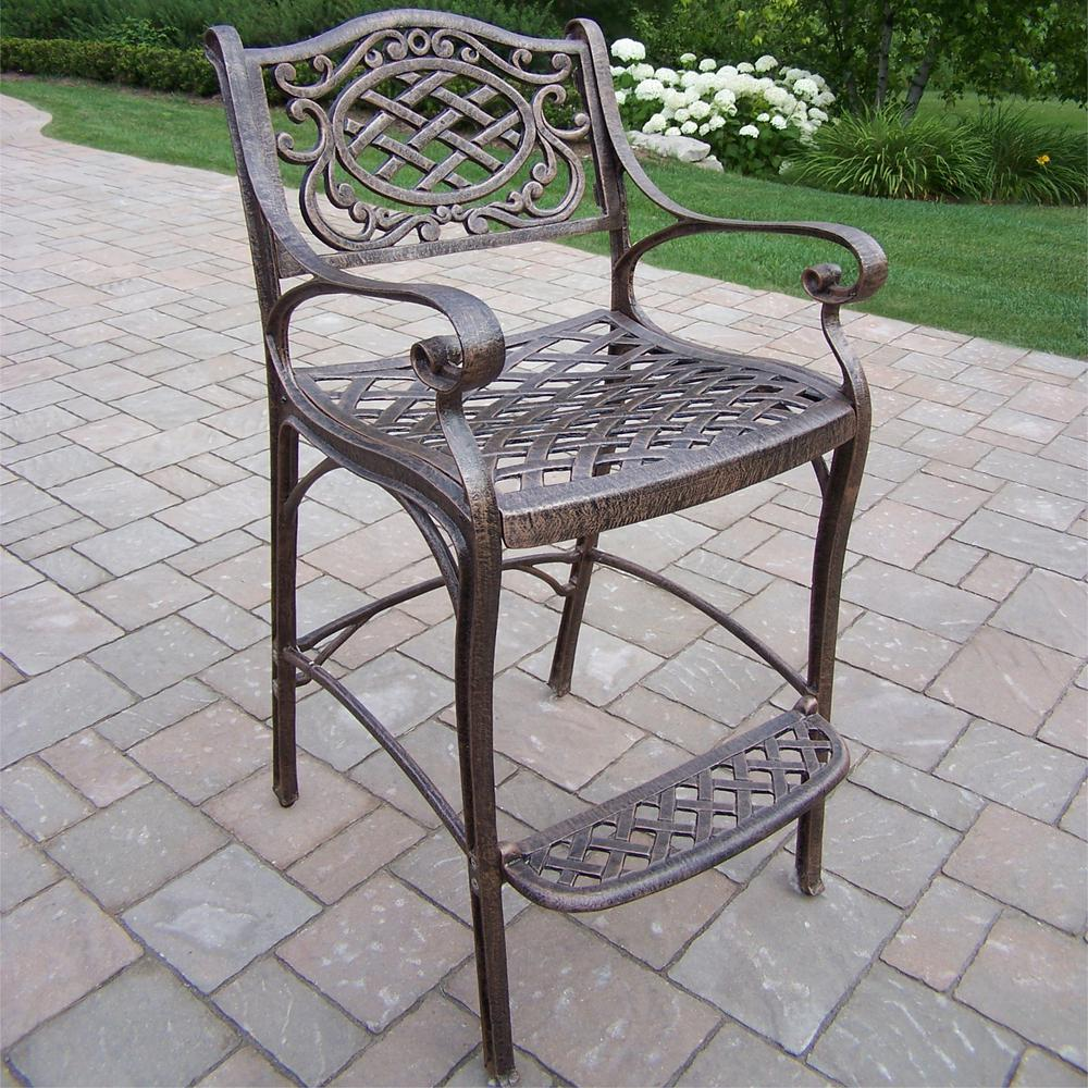 Mississippi Aluminum Outdoor Bar Stool