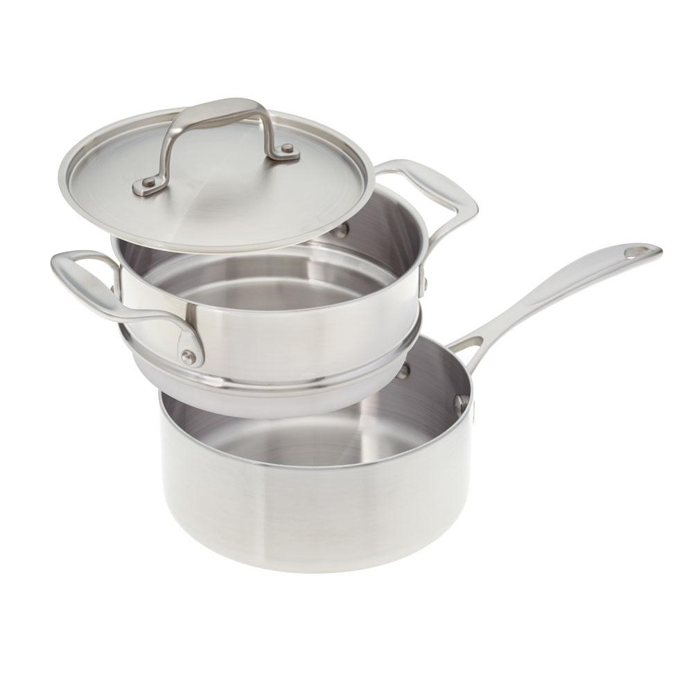 American Kitchen 2 Qt. Premium Stainless Steel (Silver) S...