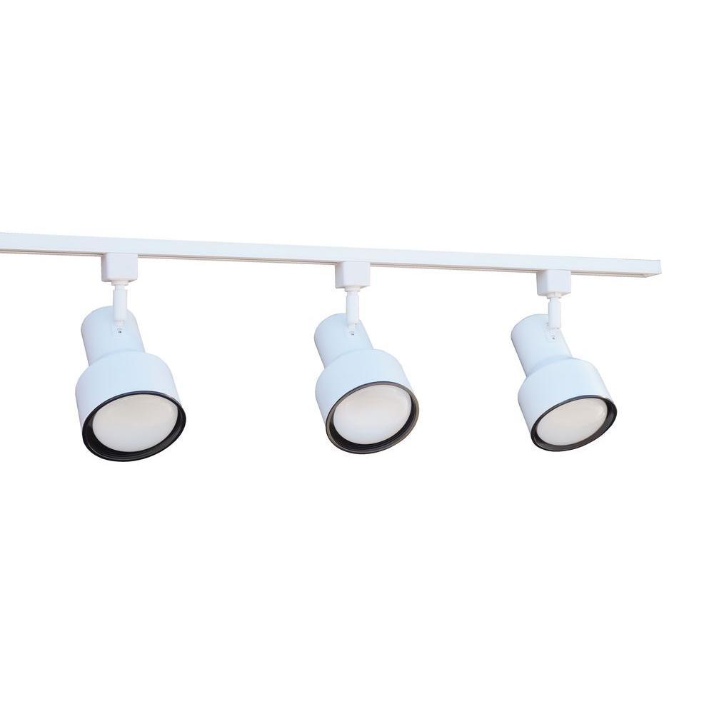 white linear track lighting. 3-Light White Linear Track Lighting Kit H