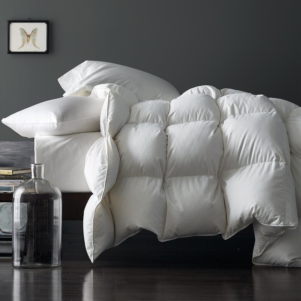 Geneva White Queen Goose Down Comforter