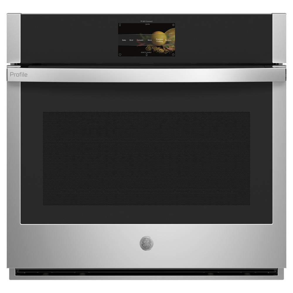 GE Profile 30 in. Smart Single Electric Wall Oven with Convection Self Cleaning in Stainless Steel