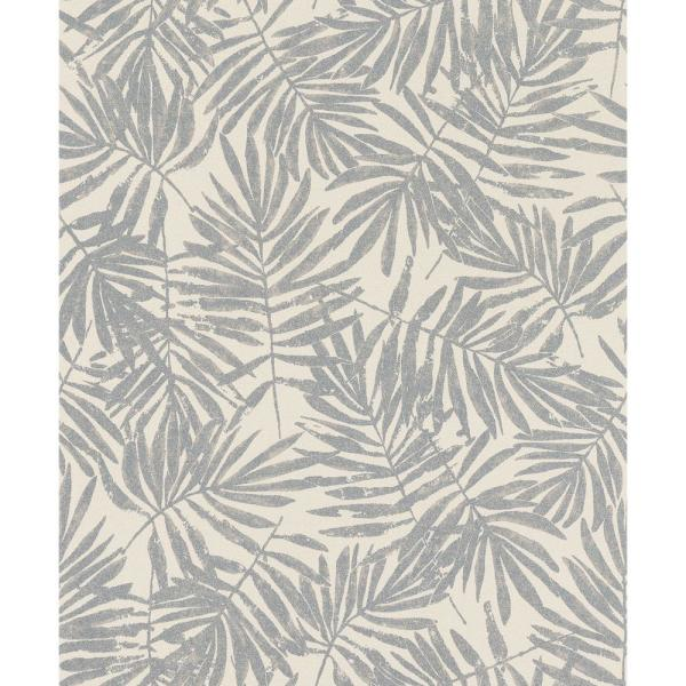 Marburg 56.4 sq. ft. La Veneziana Pewter Leaf Wallpaper