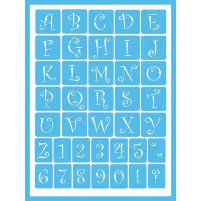 Curly Alphabet Self-Adhesive Stencil