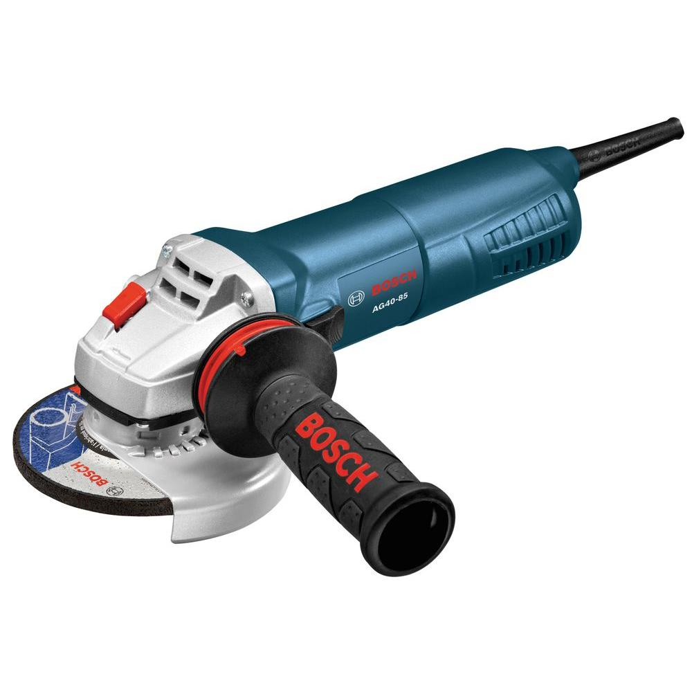 8.5 Amp Corded 4-1/2 in. Angle Grinder with Lock-On/Off Switch