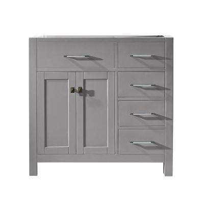 Caroline Parkway 36 in. W x 22 in. D Vanity Cabinet Only in Cashmere Grey