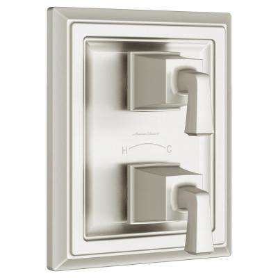 Town Square S 2-Handle Wall Mount Thermostatic Valve Trim Kit in Brushed Nickel (Valve Not Included)