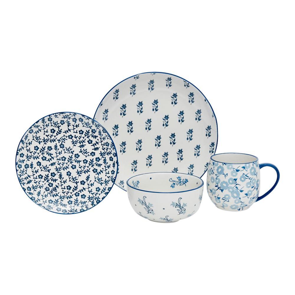 Calico 16-Piece Ceramic Dinnerware Set