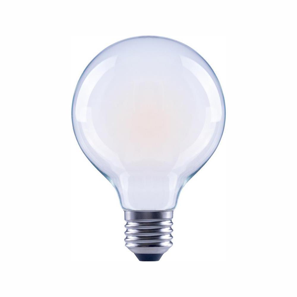 40-Watt Equivalent G25 Globe Dimmable ENERGY STAR Frosted Glass Filament Vintage LED Light Bulb Soft White (48-Pack)