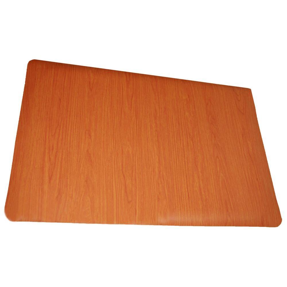Soft Woods Cherry 36 in. x 60 in. Double Sponge Vinyl Anti Fatigue Floor Mat