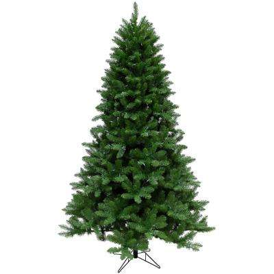 7.5 ft. Greenland Pine Artificial Christmas Tree with Clear LED String Lighting