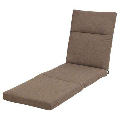 21.5 x 44.5 Outdoor Chaise Lounge Cushion in Standard Saddle