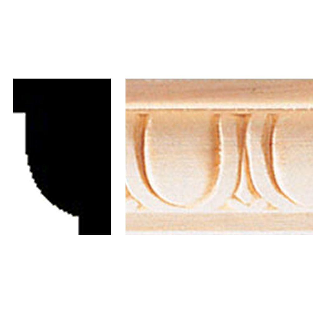 House of Fara 5/8 in. x 1 in. x 8 ft. Hardwood Egg and Dart Moulding