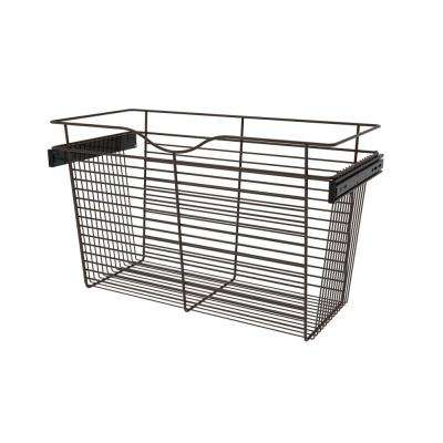 30 in. x 18 in. Oil Rubbed Bronze Pull-Out Basket