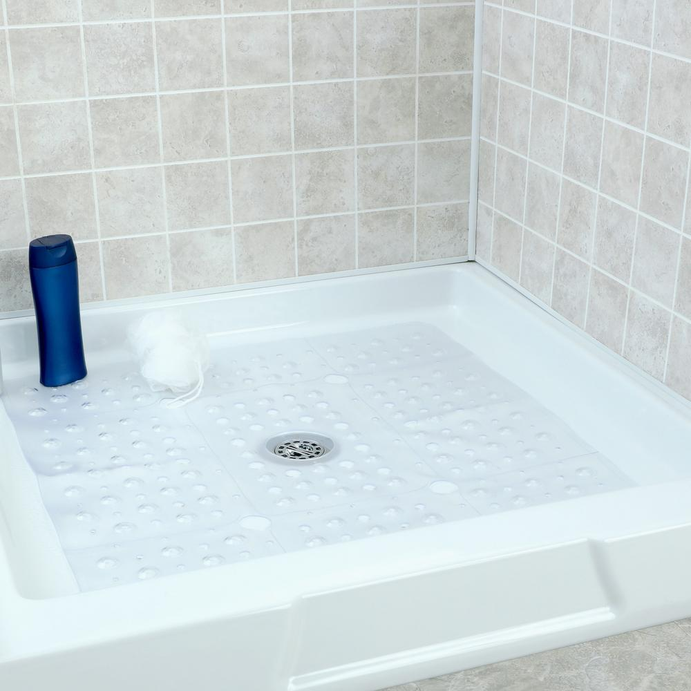 Slipx Solutions 27 In X Extra Large Square Shower Mat Clear