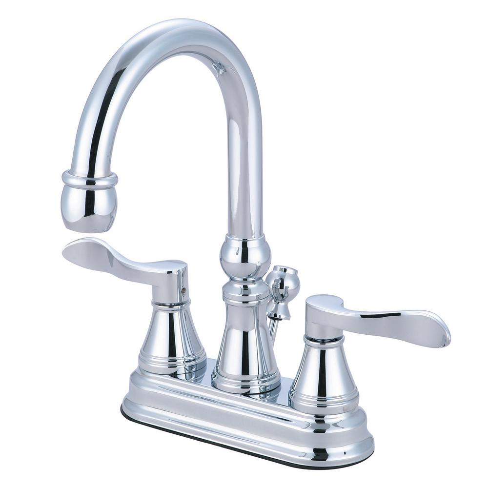 Kingston brass avignon 4 in centerset 2 handle high arc Kingston brass bathroom faucet installation