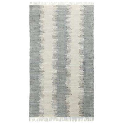 Grey Jagged Chindi 4 ft. x 6 ft. Area Rug