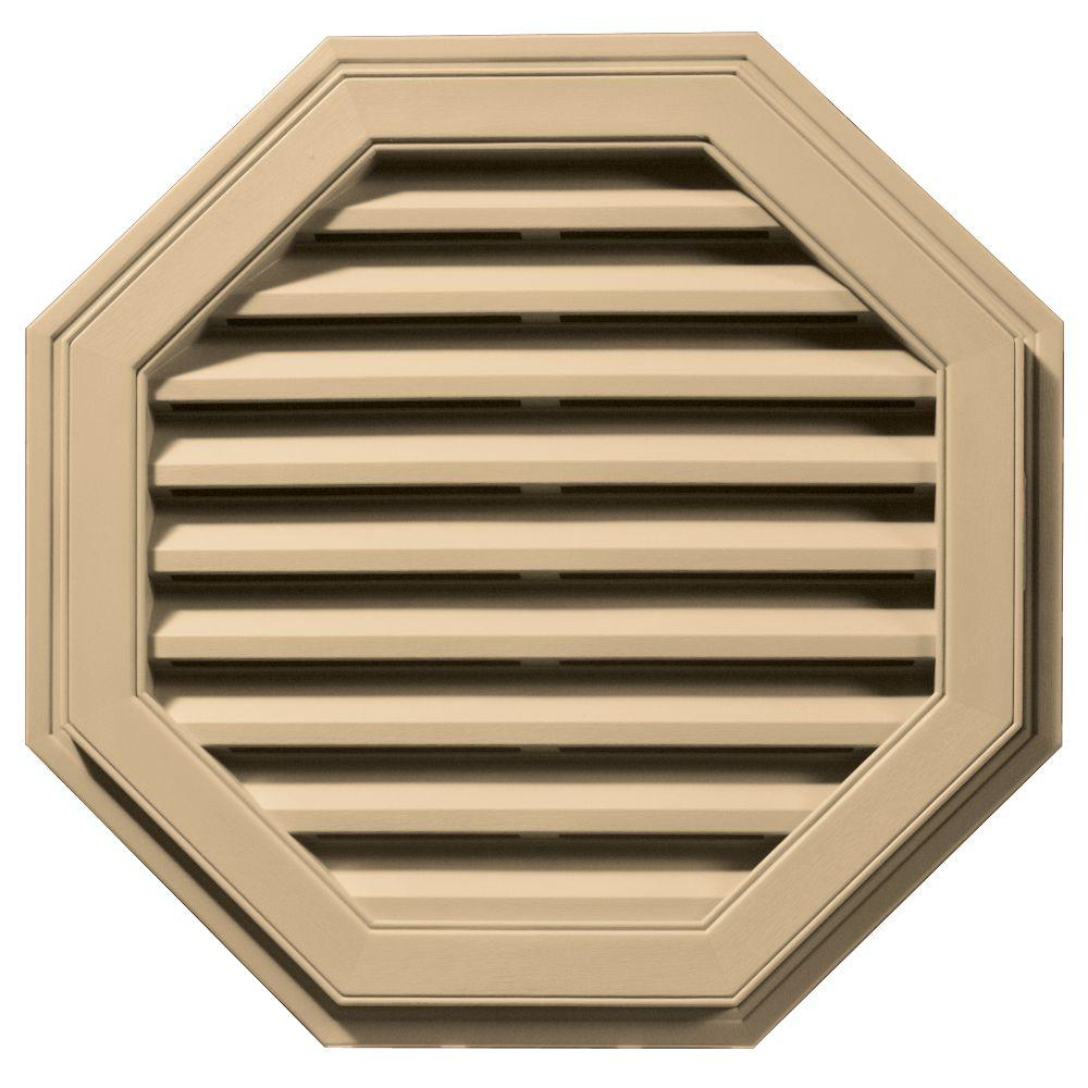 27 in. Octagon Gable Vent #045 Sandstone Maple