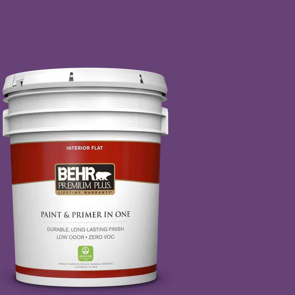 5 gal. #660B-7 Exotic Purple Zero VOC Flat Interior Paint