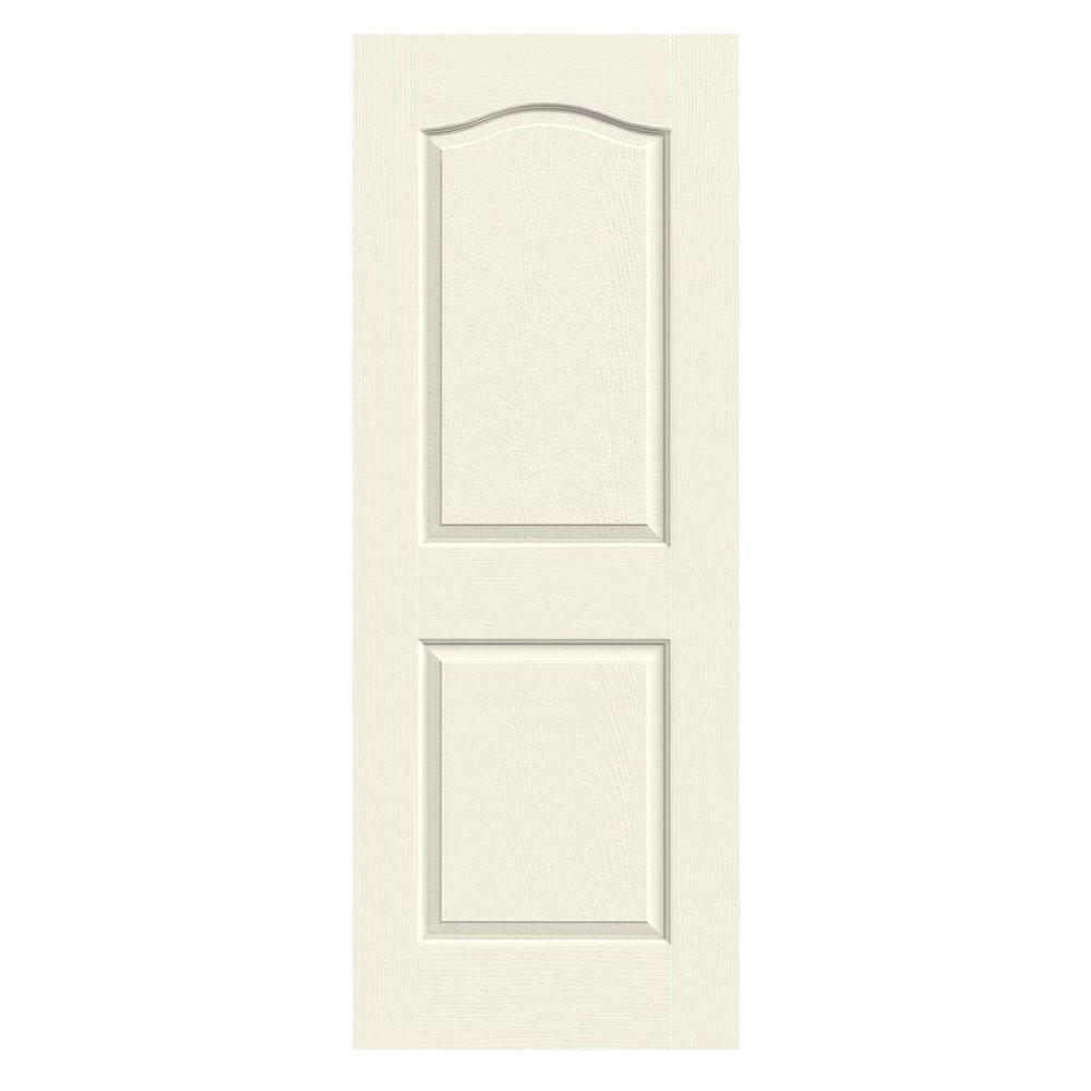 Jeld Wen 24 In X 80 In Camden Vanilla Painted Textured Molded Composite Mdf Interior Door Slab