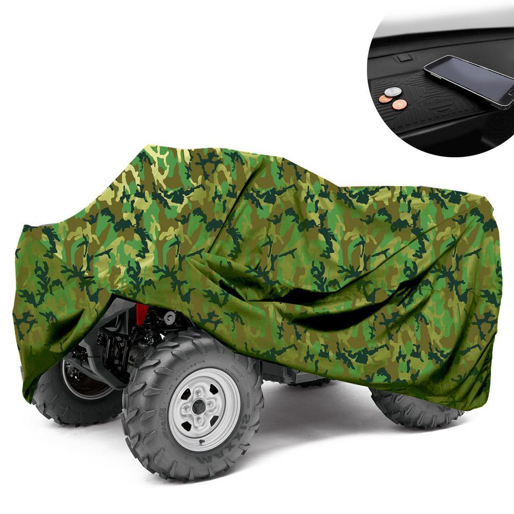 Premium Oxford Material Large 77 in. x 47 in. x 32 in. Waterproof CAMO ATV Cover
