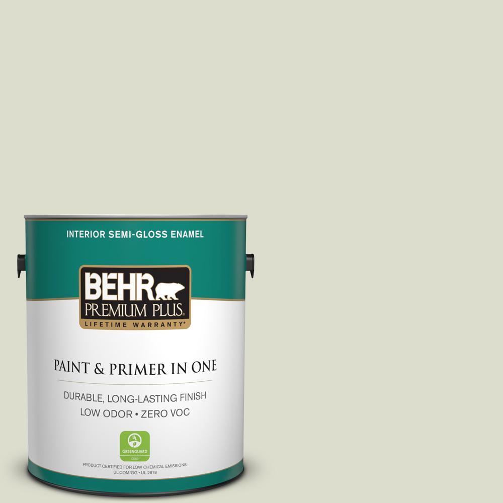 1 gal. #PPU10-15 Desert Springs Zero VOC Semi-Gloss Enamel Interior Paint