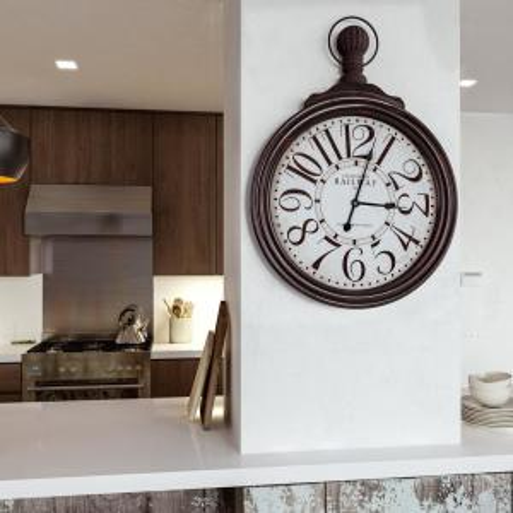 Caledonian Railway Black Oversized Wall Clock
