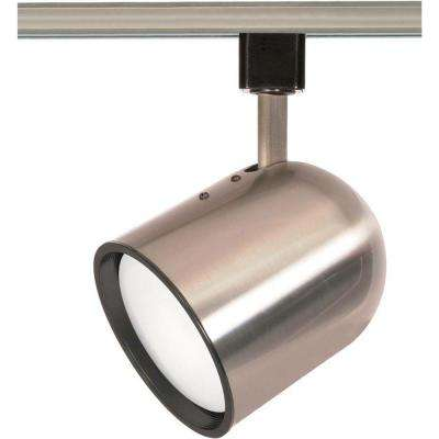 1-Light Brushed Nickel Track Lighting Head