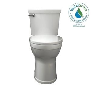 champion 4 max 2piece 128 gpf single flush high efficiency round front toilet in american standard