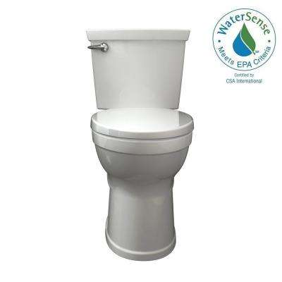 Champion 4 Max Tall Height 2piece 1.28 GPF Single Flush High Efficiency Round Front Toilet in White with Slow Close Seat