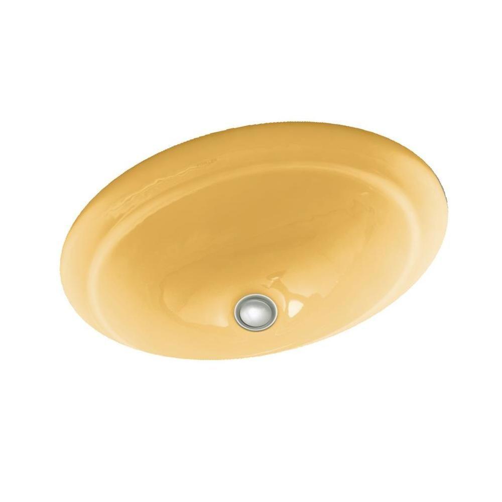 KOHLER Serif Undermount Bathroom Sink in Vapour Orange-DISCONTINUED