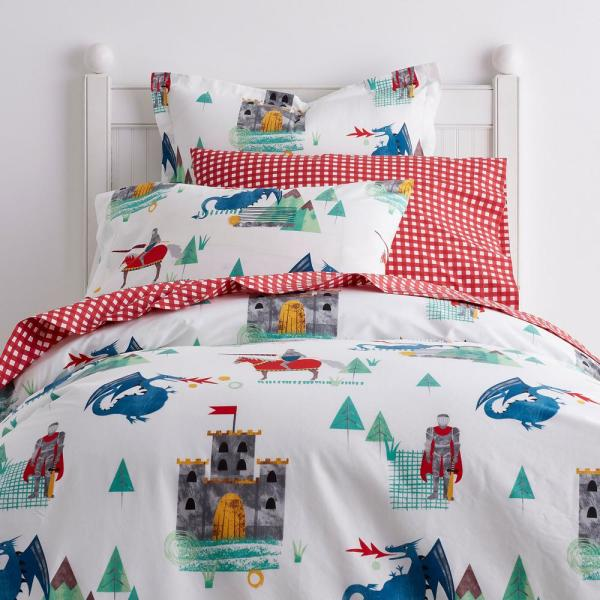 Company Kids by The Company Store Knights and Dragons Cotton Percale