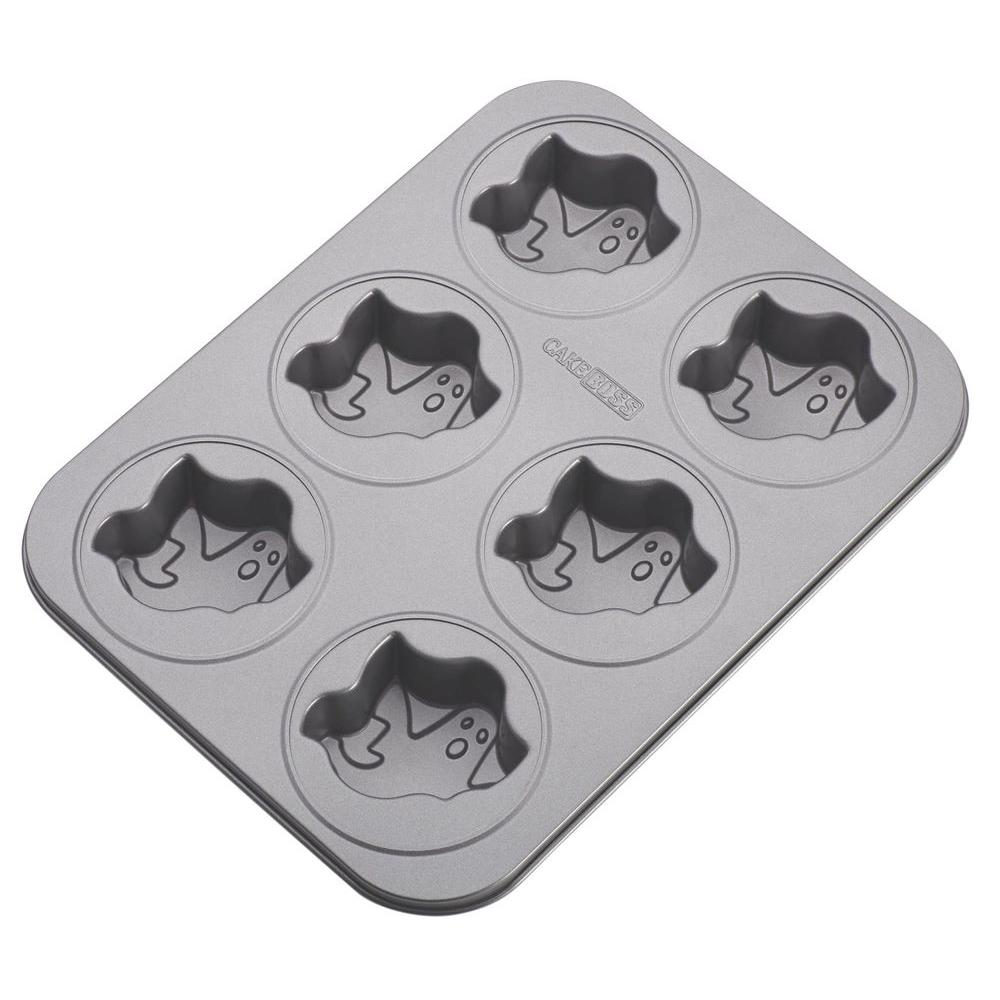 Novelty Nonstick Bakeware 6-Cup Ghost Cakelette Pan