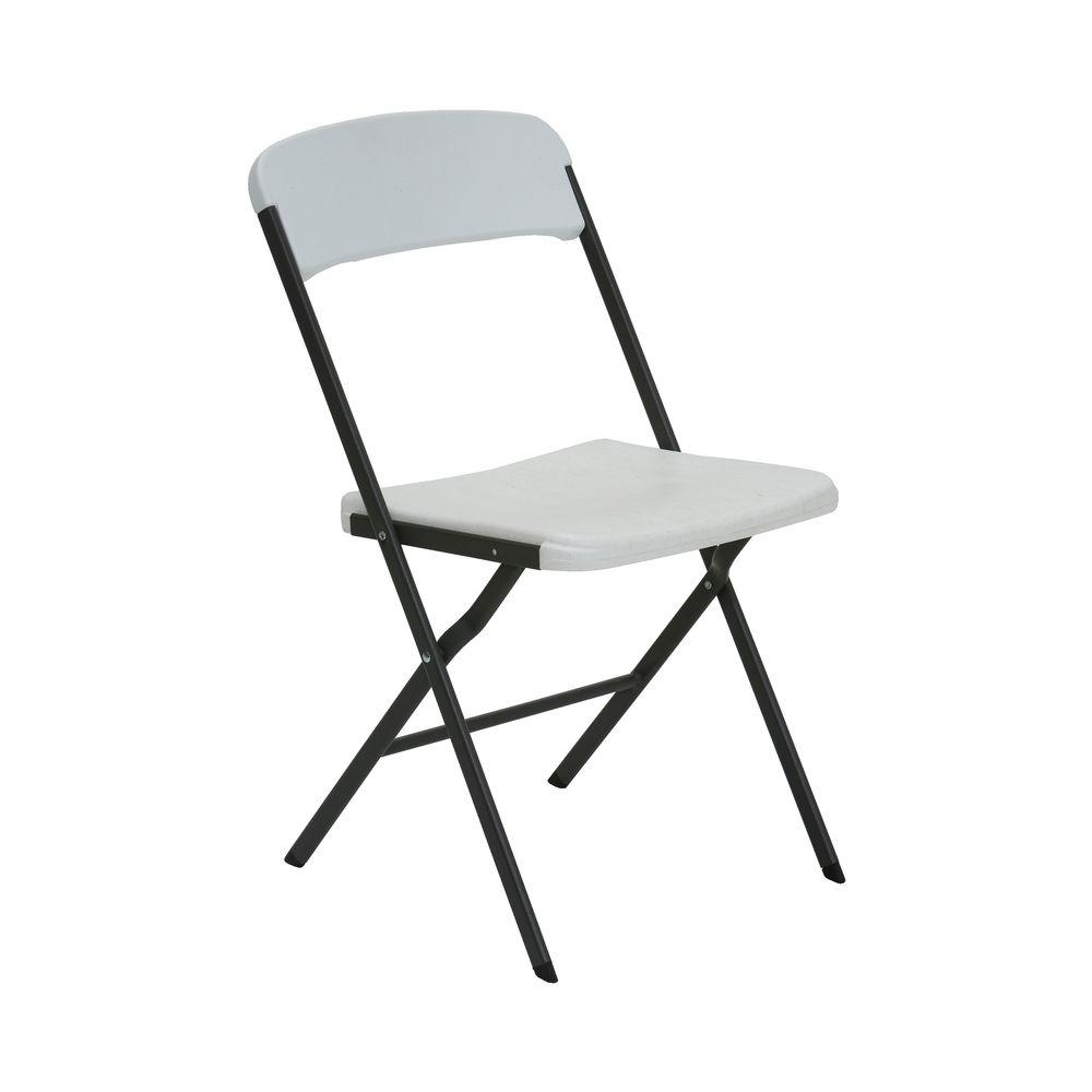 Lifetime White Folding Chair Set of 6 The Home Depot