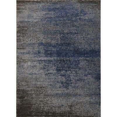 Azure Gray/Blue 5 ft. x 7 ft. Indoor Area Rug