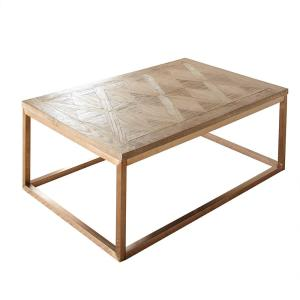 Gino Driftwood and Rose Gold Cocktail Table by