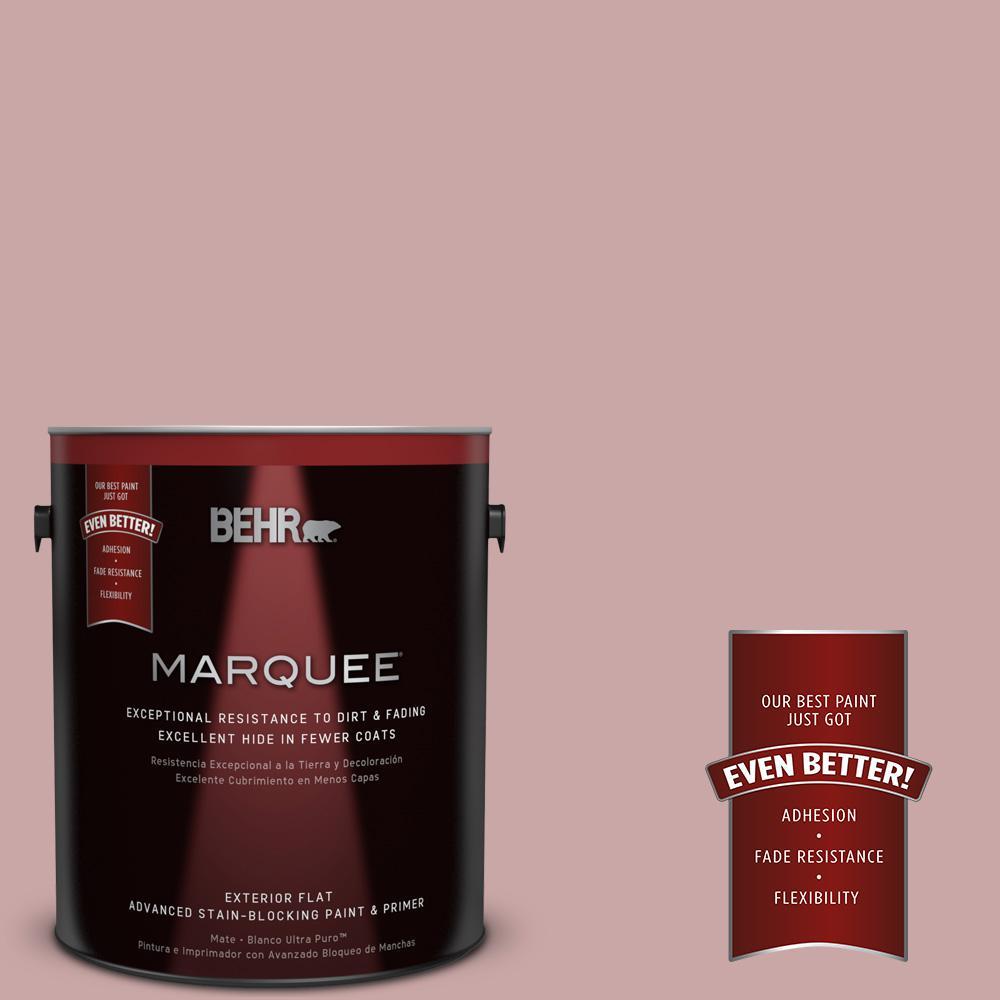 1-gal. #140E-3 Rose Bisque Flat Exterior Paint