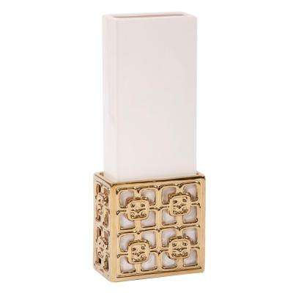Gold Lattice Base Ceramic Decorative Vase Large