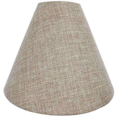 Mix & Match 11 in. x 8 in. Oatmeal Round Accent Lamp Shade