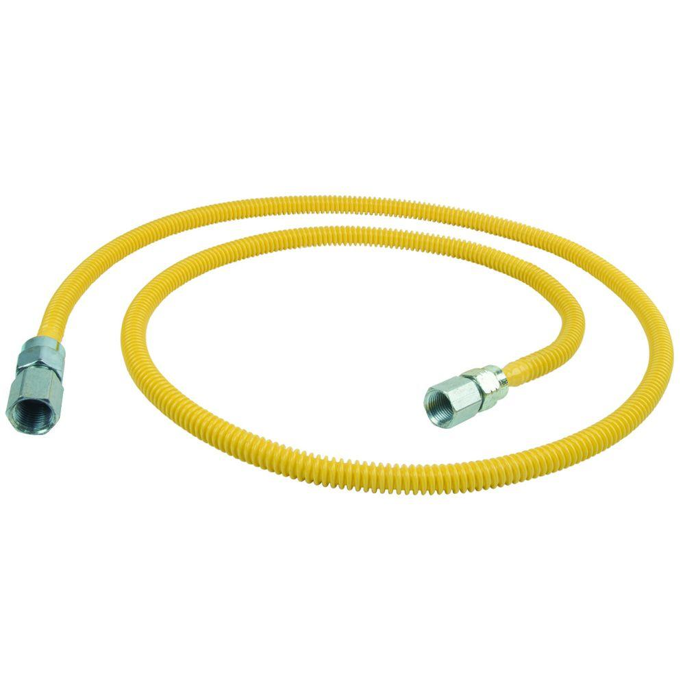 BrassCraft ProCoat 3/8 in. FIP x 3/8 in. FIP x 60 in. Stainless Steel Gas Connector 3/8 in. O.D. (24,900 BTU)