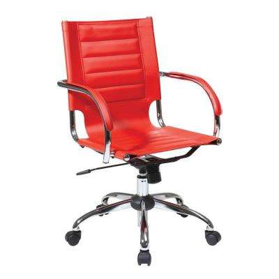 Trinidad Red Vinyl Office Chair