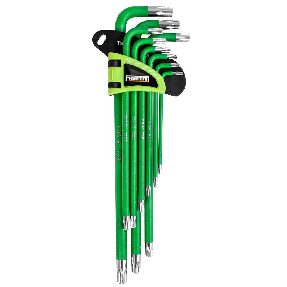 9-Piece Extra Long Arm Torx Key Set