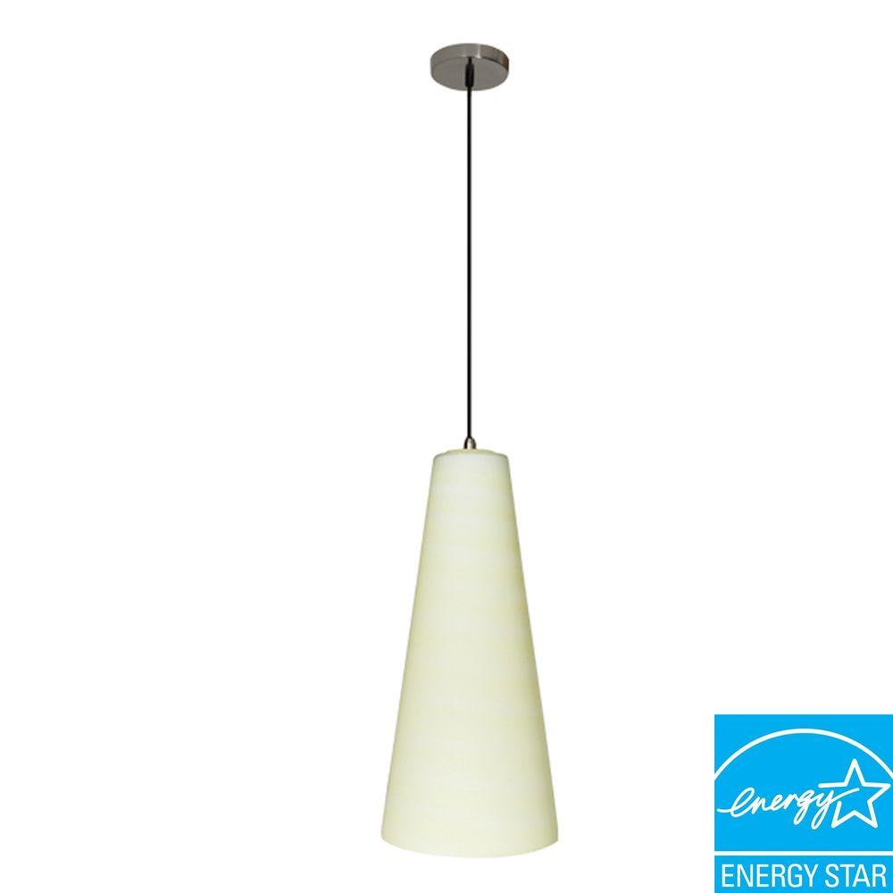 Efficient Lighting Traditional Series 1-Light Ceiling Mount Pendant Fixture with Cream Glass Shade GU24 Energy Star Qualified -DISCONTINUED