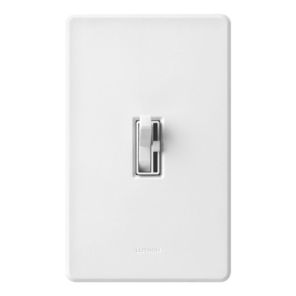 Lutron Toggler 1000-Watt Single-Pole Dimmer with Night Light - White