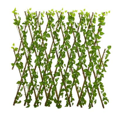 Indoor/Outdoor 47 in. Pothos Expandable Fence UV Resistant & Waterproof
