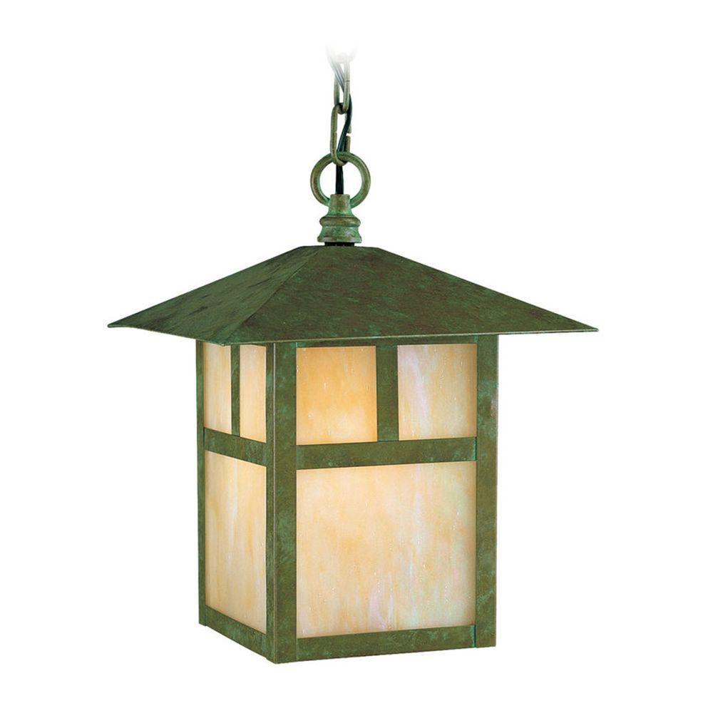 Filament Design Providence 1-Light Outdoor Verde Patina Incandescent Pendant
