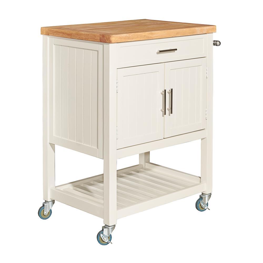 Conrad White Kitchen Cart
