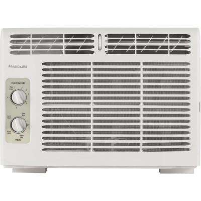 5,000 BTU Window-Mounted Room Air Conditioner in White