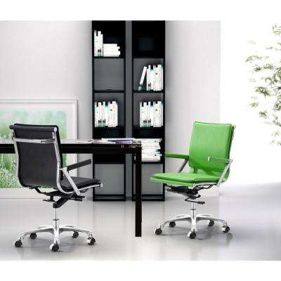 Lider Plus White Leatherette Office Chair