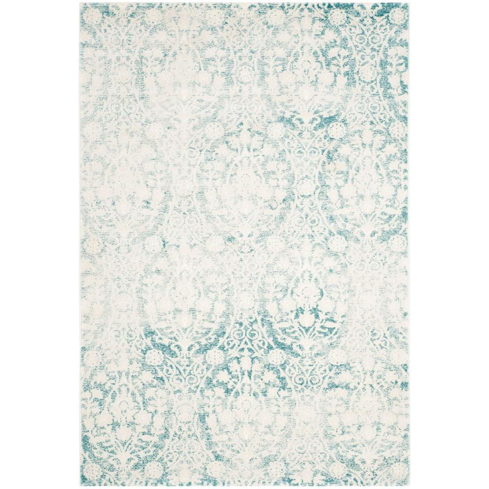 Safavieh Passion Turquoise Ivory 4 Ft X 6 Ft Area Rug Pas403b 4